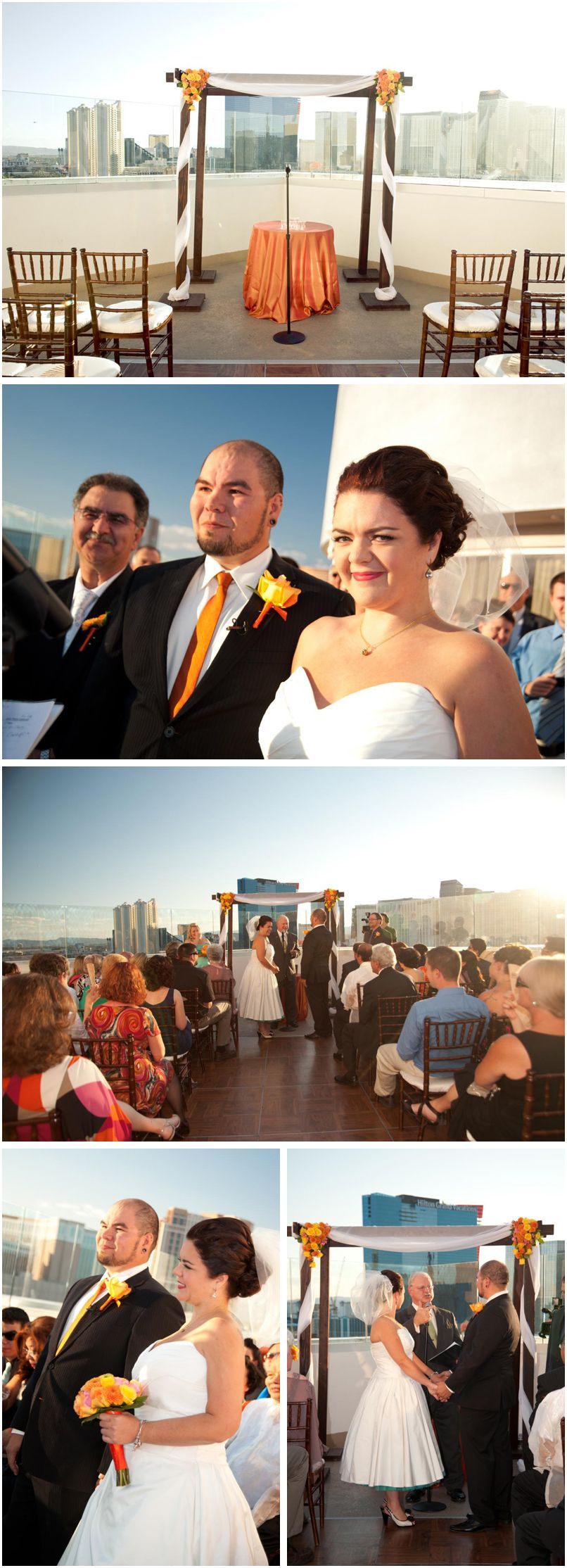 rooftop wedding at the Platinum Hotel and Spa (just off-strip)