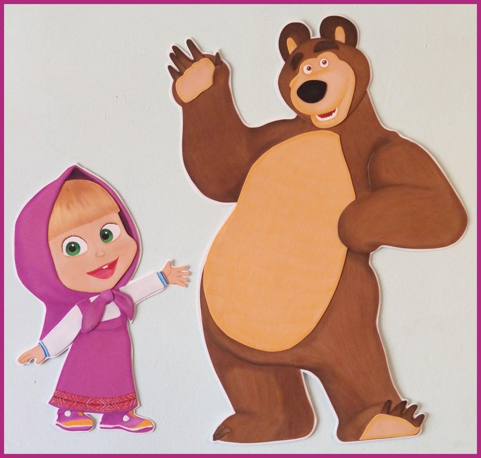 маша и медведь рисунок цветной