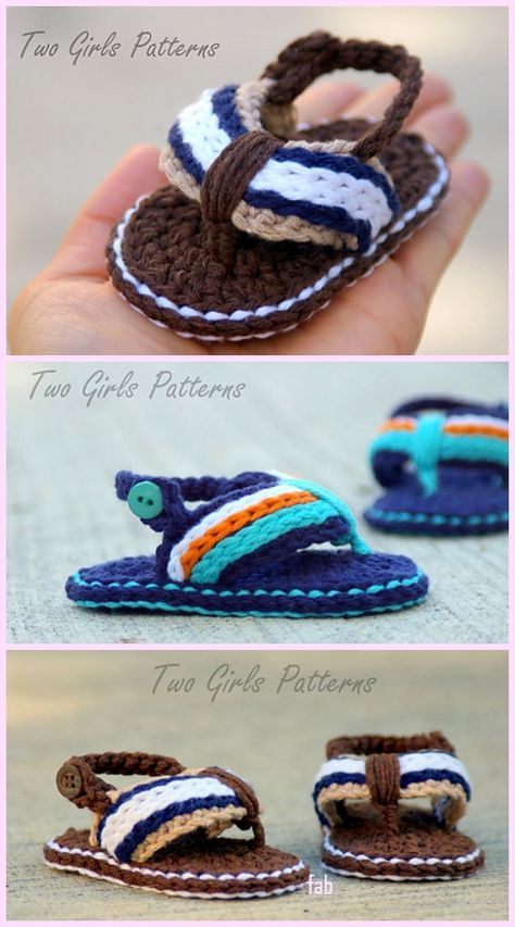 Crochet Baby Flip Flop Sandals Free Crochet Pattern & Video #crochetbabyshoes