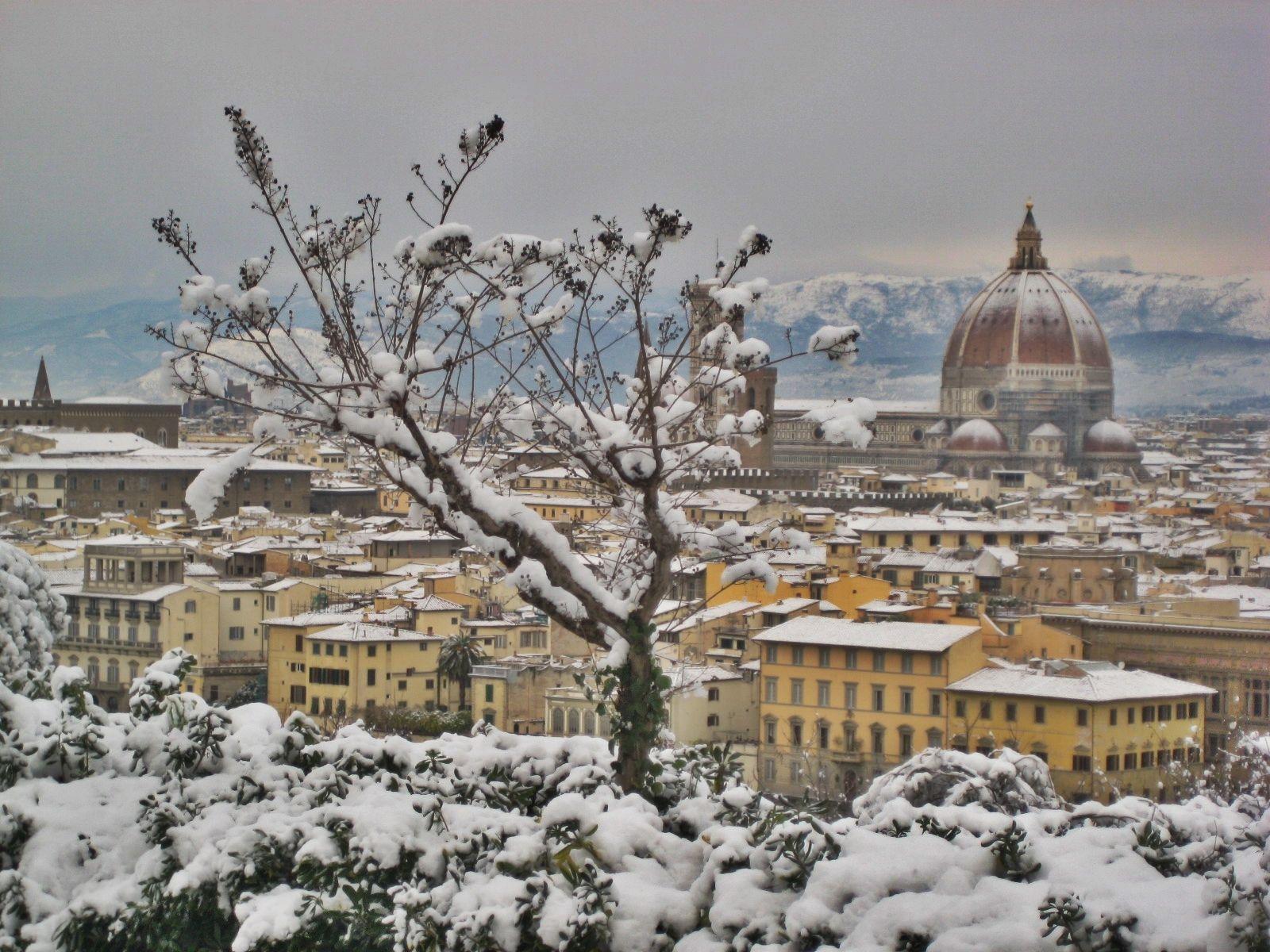 FIRENZE - Panorama sotto la neve (Toscana)