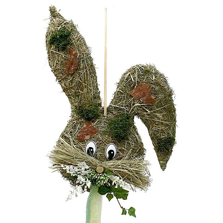 Türkranz Wandkranz Hasenkopf Natur ca 42 cm Frühling - Ostern