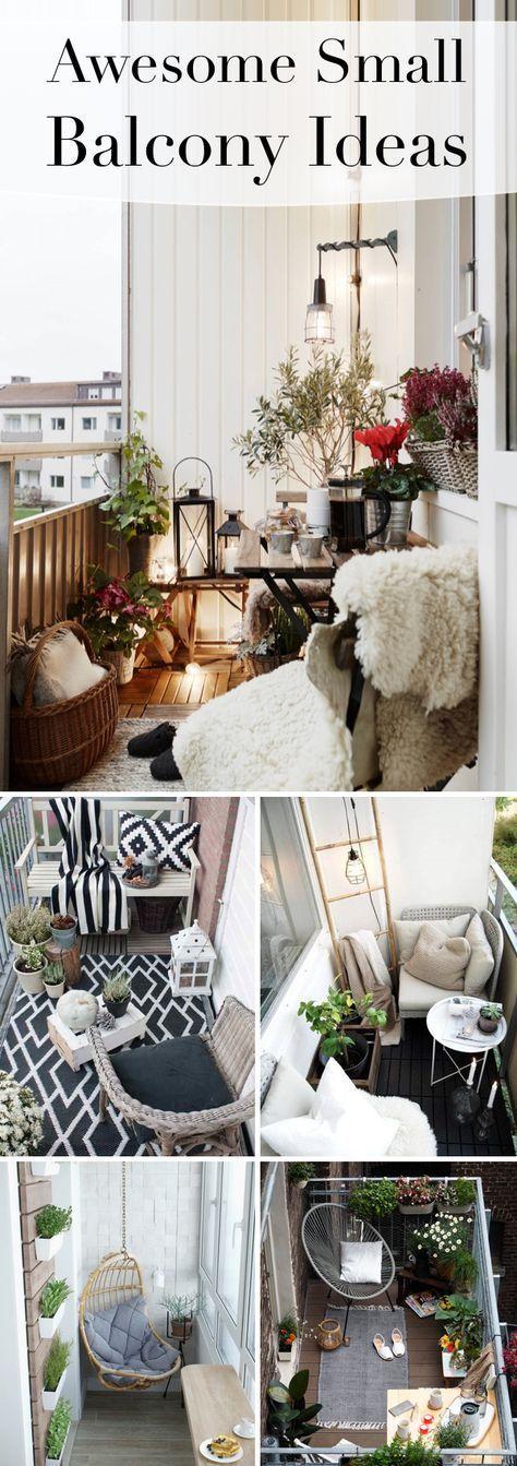 20 großartige kleine Balkonideen, die selbst kleinste Räume verherrlichen! #balconyideas