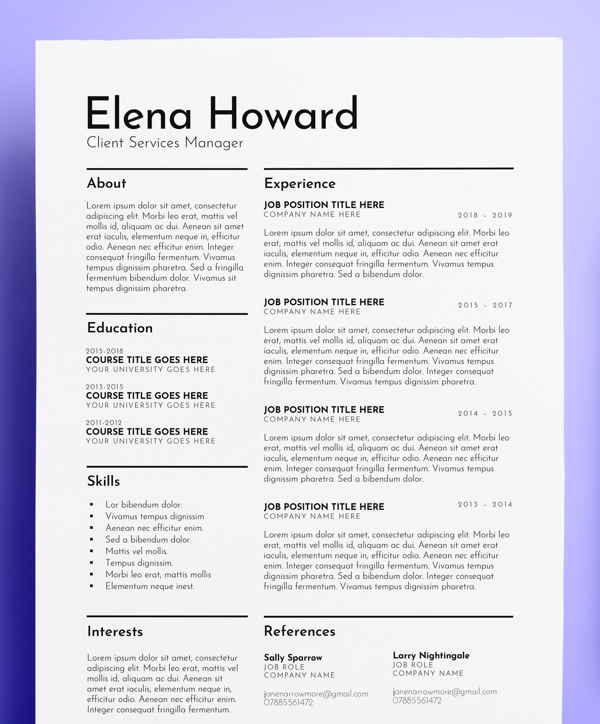 Elena Howard Client Services Manager Download For 8 25 On
