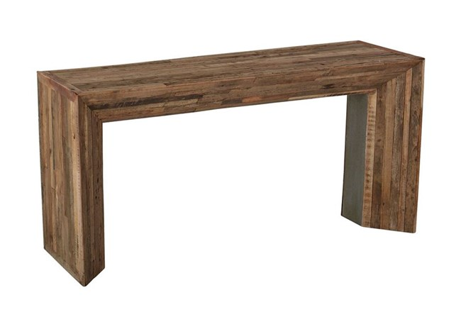 Photo of Vintage Wood Console Table