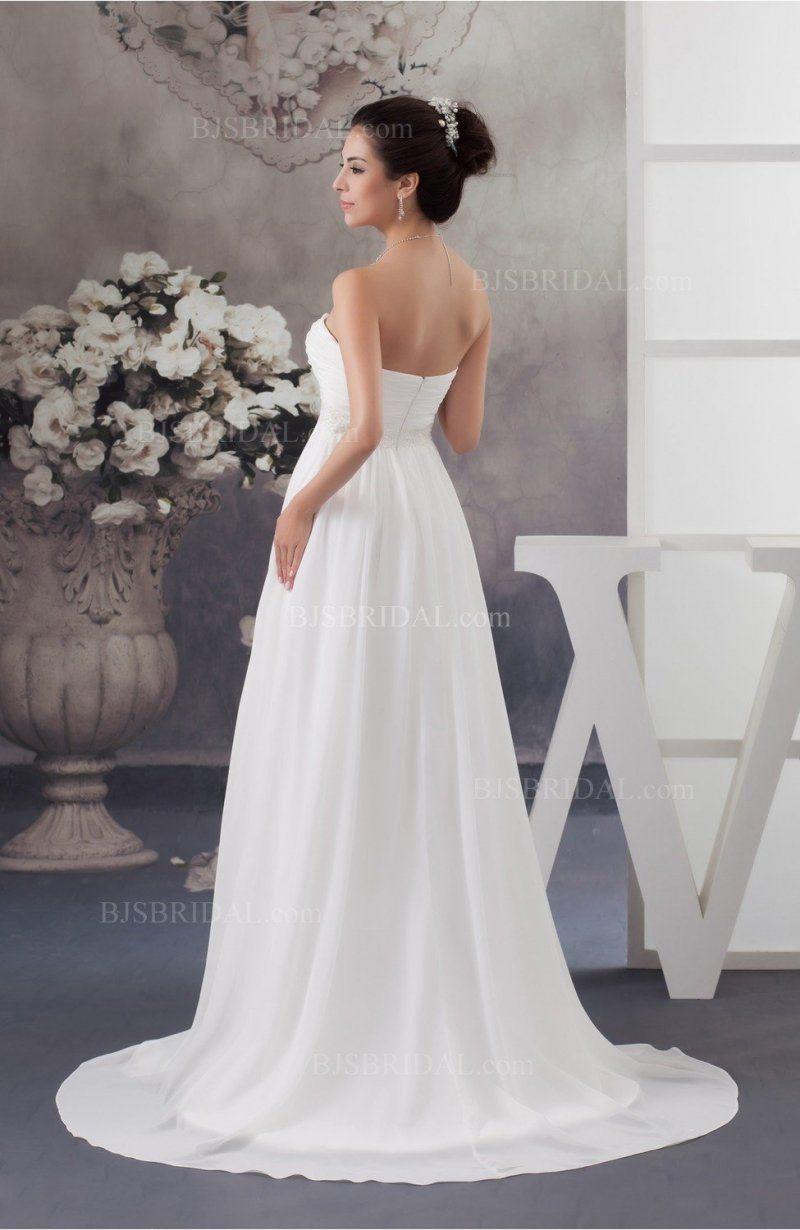 Maternity Wedding Dress Inexpensive Sweetheart Fall Full Figure ...