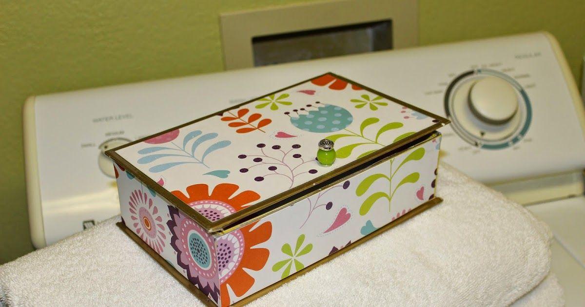 Easy Dryer Sheet Storage Box Sheet Storage Dryer Sheets