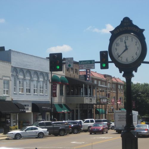 Downtown Starkville Is Also Known As The Old Main District Starkville Mississippi Starkville College Town