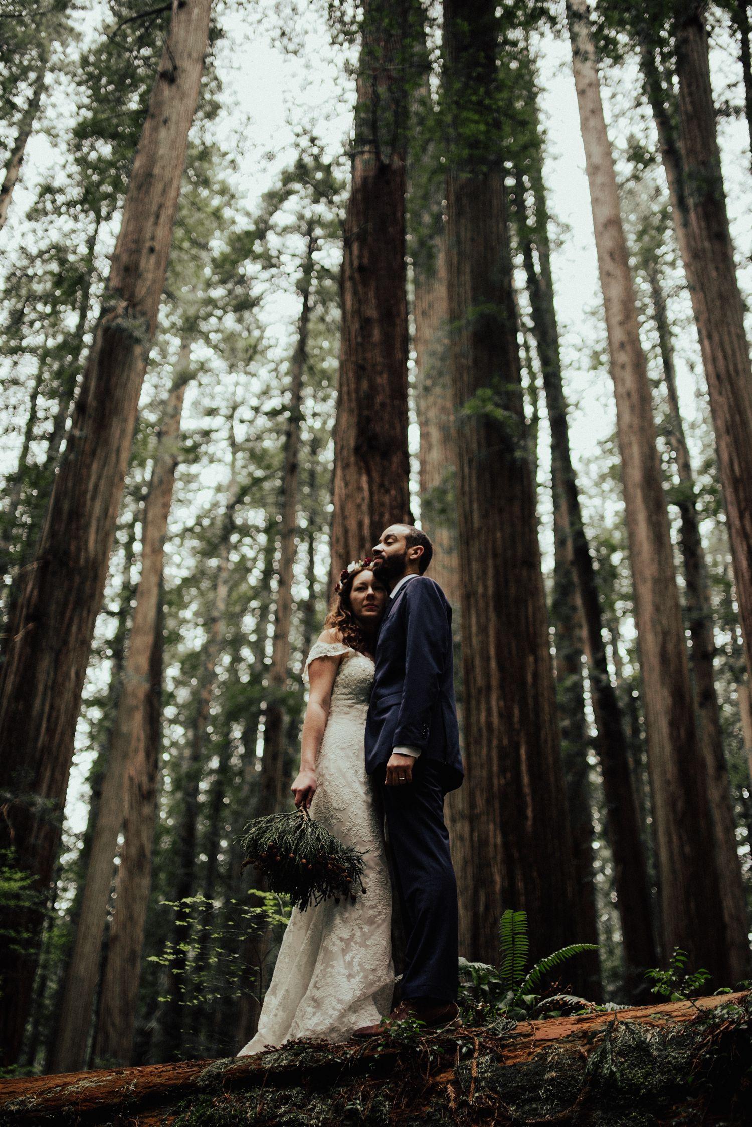 Outdoor Woods Elopement Photography Adventure Wedding Adventure Photography Elopement Photography
