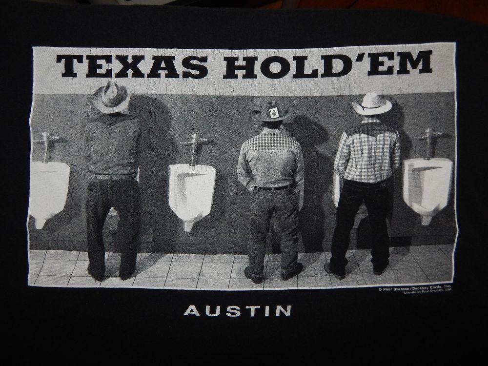 7bd376991 Vintage Texas Hold 'Em Austin Shirt Size M Cowboy Urinal Funny Novelty by  Polar #PolarGraphics #GraphicTee