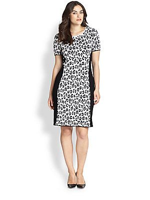Stizzoli, Salon Z Animal-Print Knit Dress