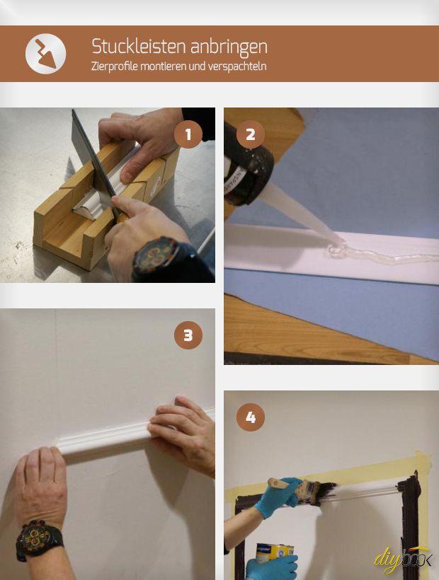 Schon An Tapetenbilder Gedacht Die Rahmen Lassen Sich Leicht Aus Zierleisten Stuckleisten Tapezieren Renovierung Und Einrichtung