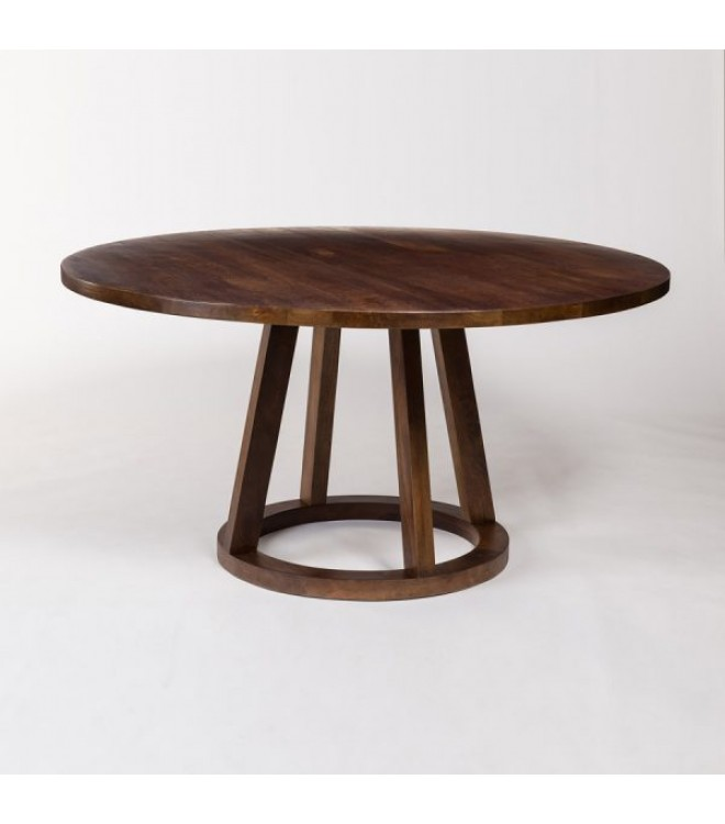 Dark Mango Wood Round Eclectic Dining Table 3 Sizes In 2020