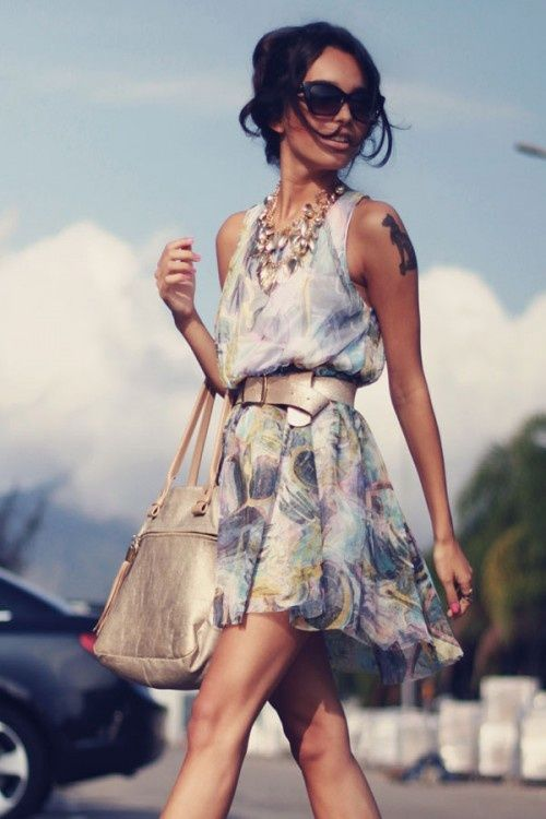 Flowy summer dress
