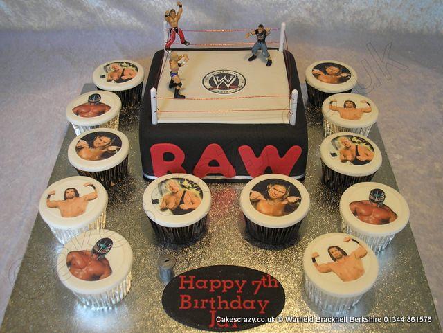 Wwe Wrestling Cake Wwe Themed Celebration Birthday Cake In The