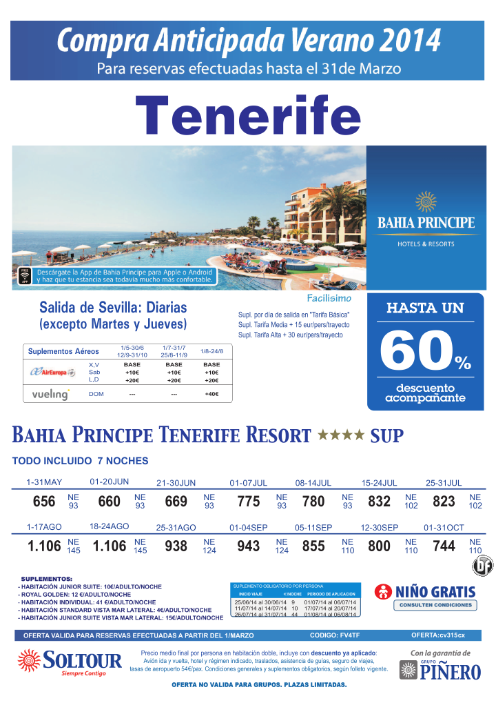 Hasta 60% compra anticipada Bahía Príncipe Tenerife Resort salidas desde Sevilla ultimo minuto - http://zocotours.com/hasta-60-compra-anticipada-bahia-principe-tenerife-resort-salidas-desde-sevilla-ultimo-minuto/