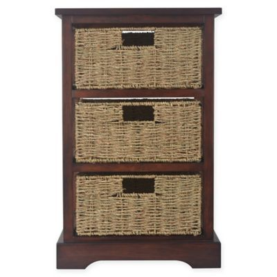 Decor Therapy Timeless 3 Drawer Storage Chest In Acacia Cherry