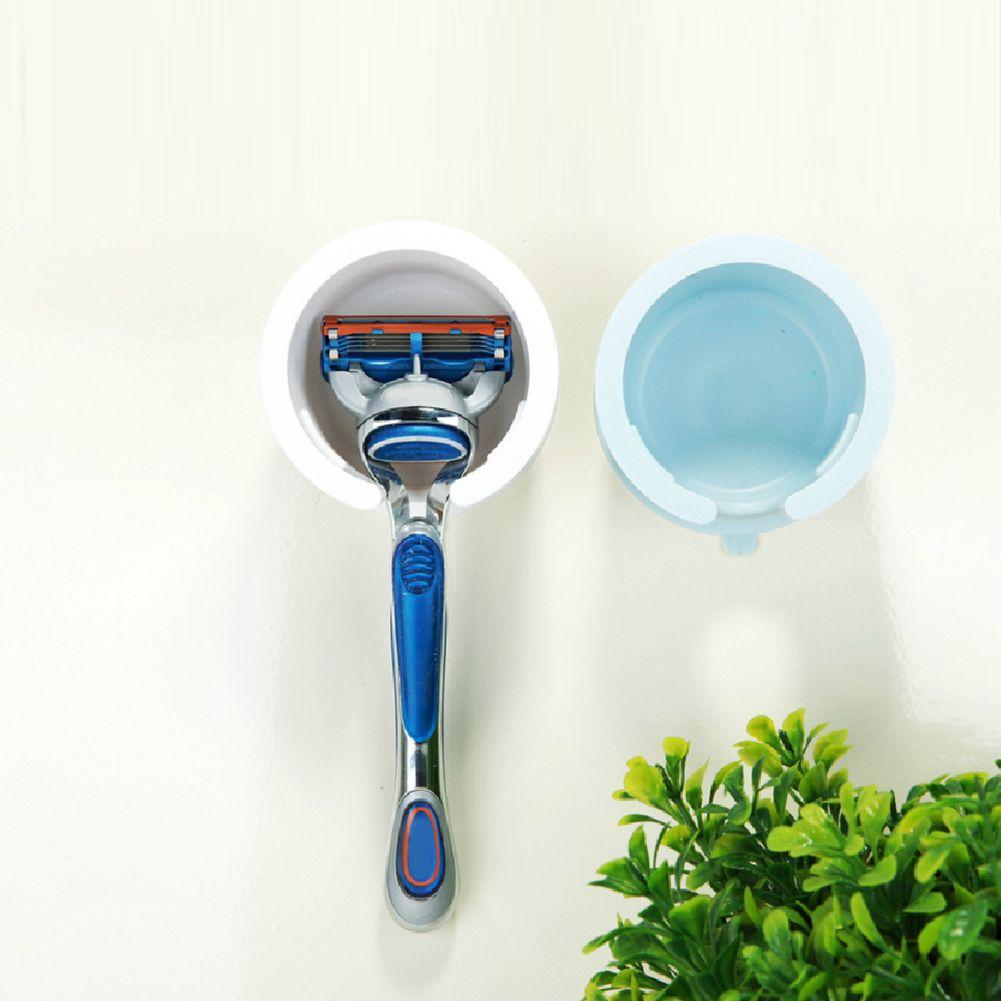 Superior New Safe Razor Stand Wall Sucking Toothbrush Holder Shaver Cap Holder  Bathroom Shower Home Organizer