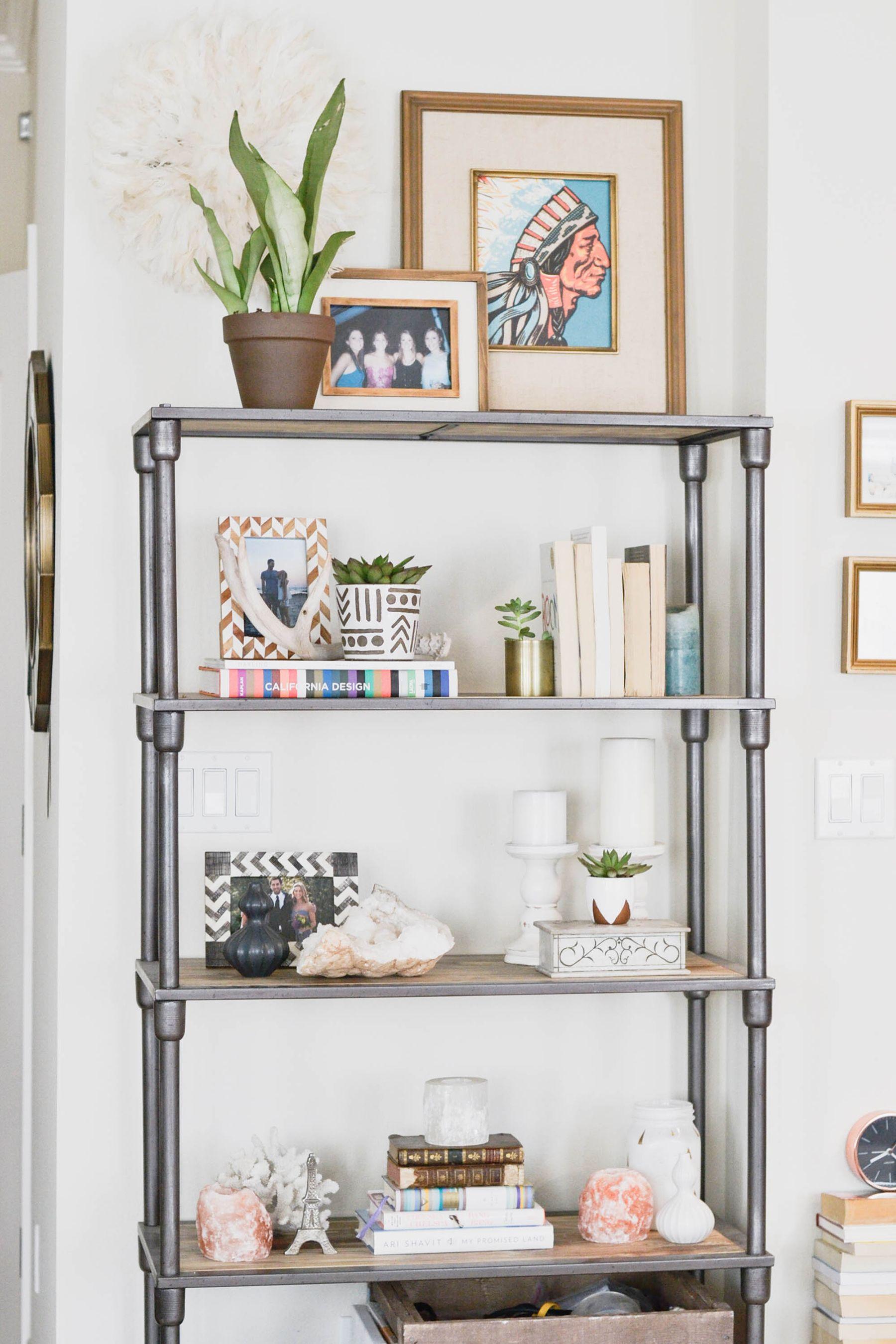 Bookshelf Ideas Styling Bookshelves Decorating Bookcases Industrial Speakers
