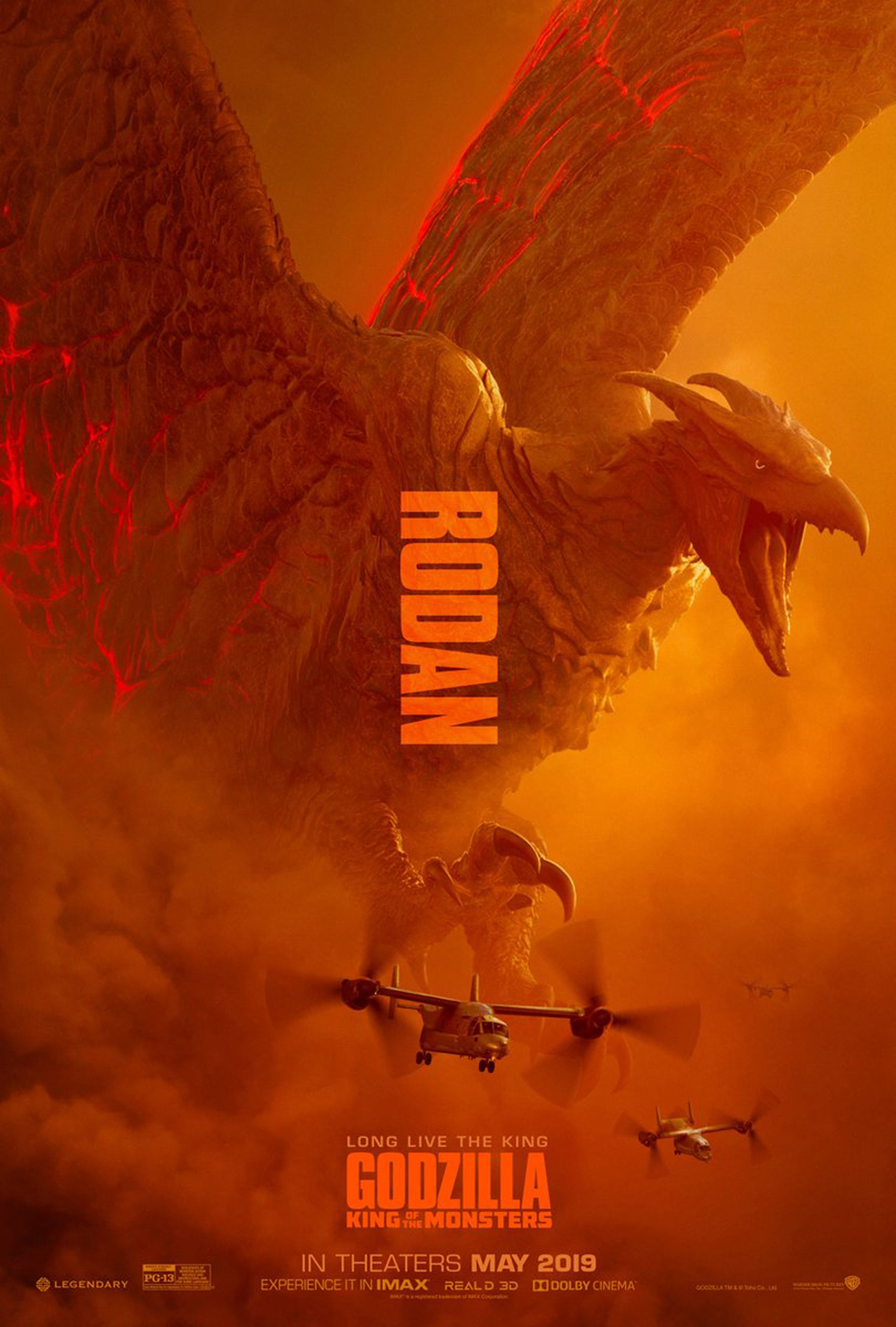 detailed look ad553 06672  em Godzilla  King of the Monsters  em   Rodan, Mothra, and Ghidorah get  own posters
