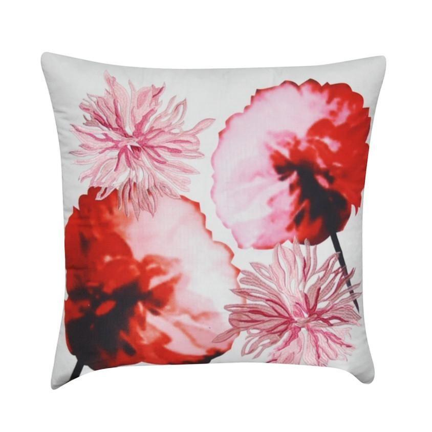 Loom Mill 40 X 40 Orange Floral Decorative Pillow P404040P Extraordinary Loom And Mill Decorative Pillows