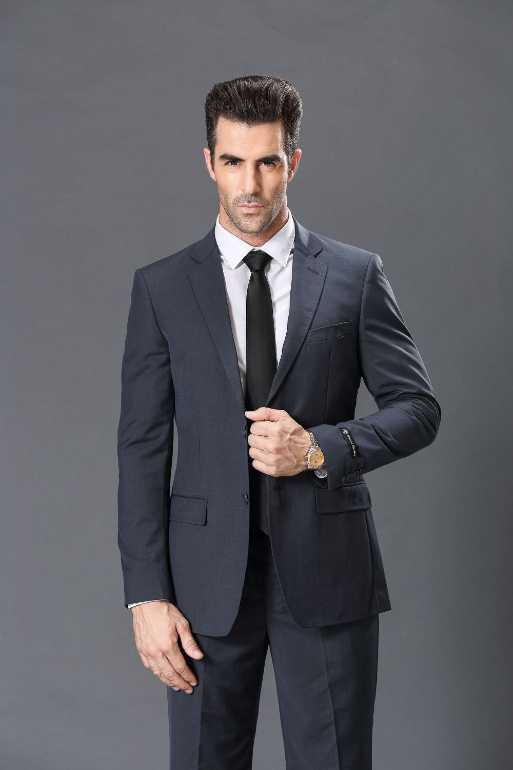 Click To Buy Free Shipping High Quality Single Breasted Regular Twill Fashion Business MenMan SuitSingle