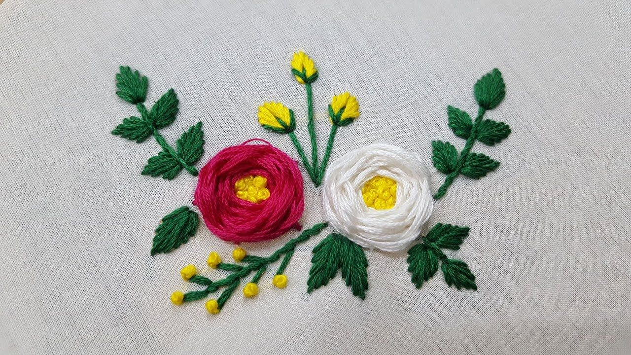 Rose Embroidery Beautiful Rose Stitch Hand Embroidery Ribbon Embroidery Embroidery Flowers Hand Embroidery Designs