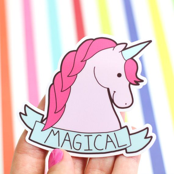 This Unicorn Is Magical Includes One Sticker Sticker Is - Custom vinyl stickers easy peel off