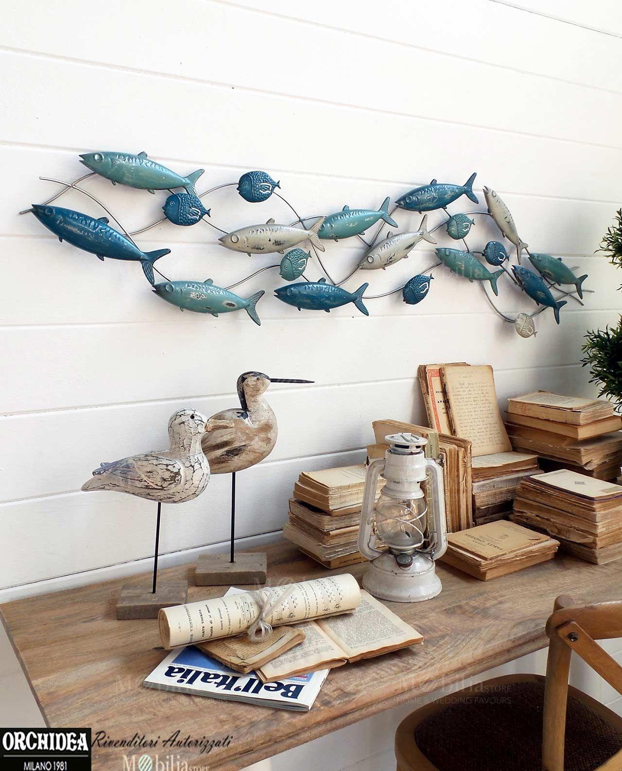 Pannelli decorativi per pareti con pesci realizzati in metallo perfetti per arredare la tua - Decorazioni in legno per pareti ...