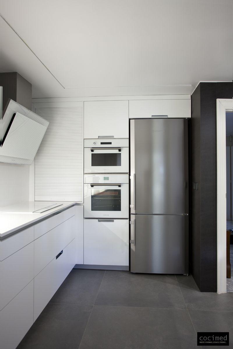 Electrodomésticos en Cristal blanco | Cocinas | Pinterest | Diseño ...