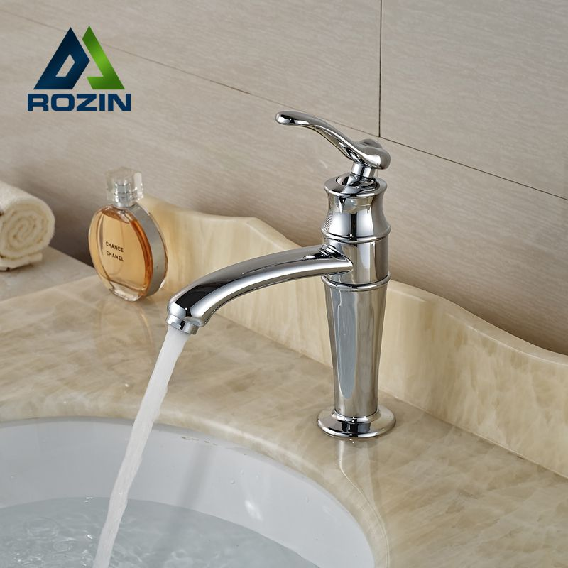 Unique Design Brass Basin Vanity Sink Faucet Bathroom Vessel Sink