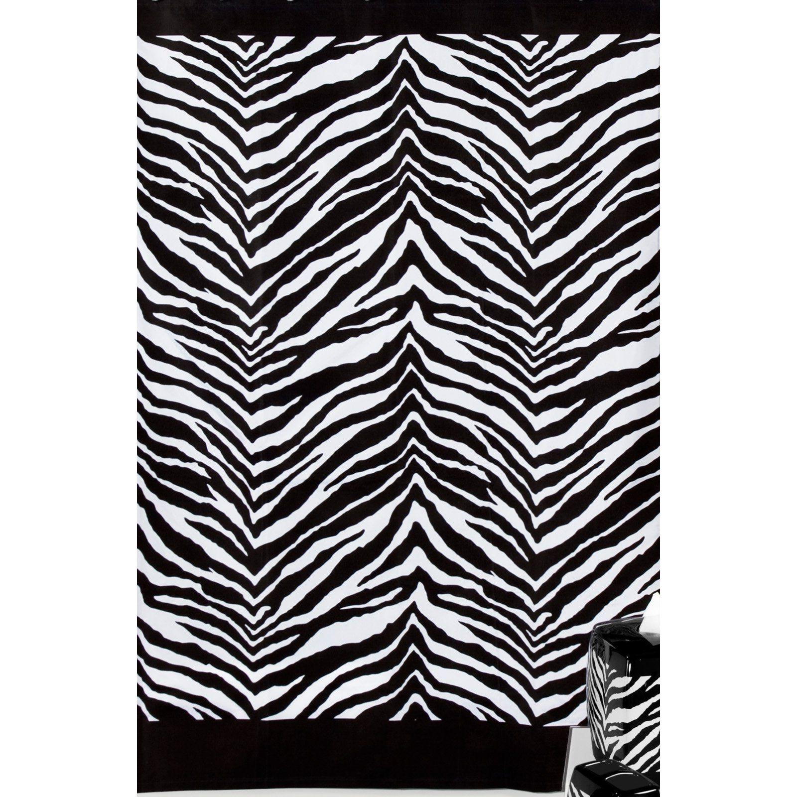 Zebra Shower Curtain Zebra Print Bathroom Creative Bath Fabric