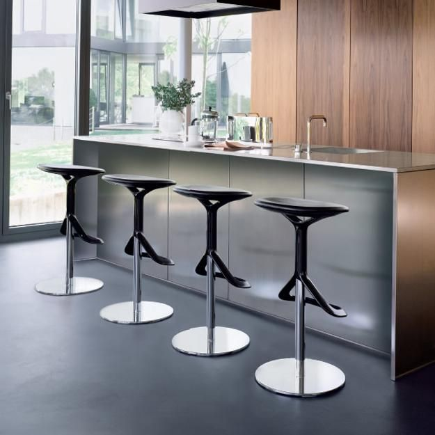 Modern Bar Stools and Kitchen Countertop Stools in Soft Round ...
