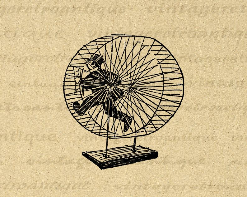 11x14 Printable Old Fashioned Man Running On Hamster Wheel Digital Graphic Image Download Vintage Clip Art Fo Clip Art Vintage Antique Artwork Digital Graphics