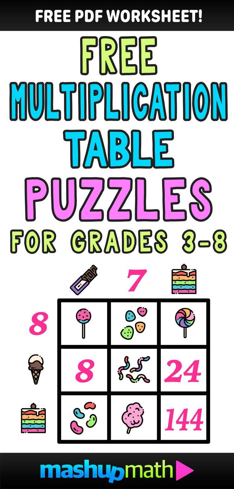 Multiplication Table Worksheets Free Printable Math Puzzles Mashup Math Maths Puzzles Kids Math Worksheets Math