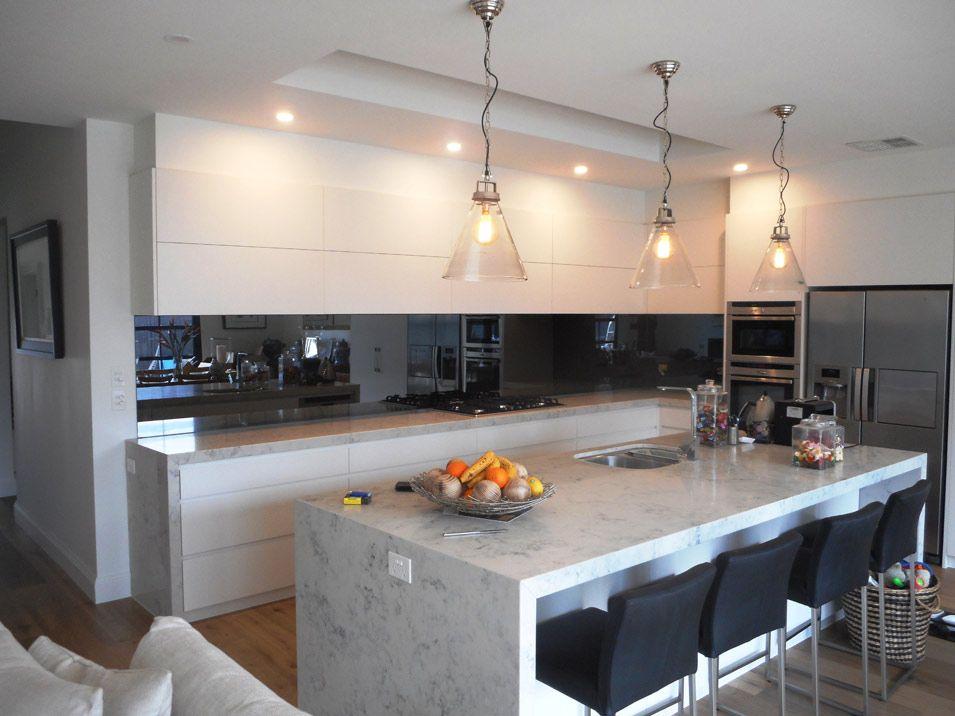 White Kitchen Mirror Splashback best 25+ mirror splashback ideas only on pinterest   kitchen