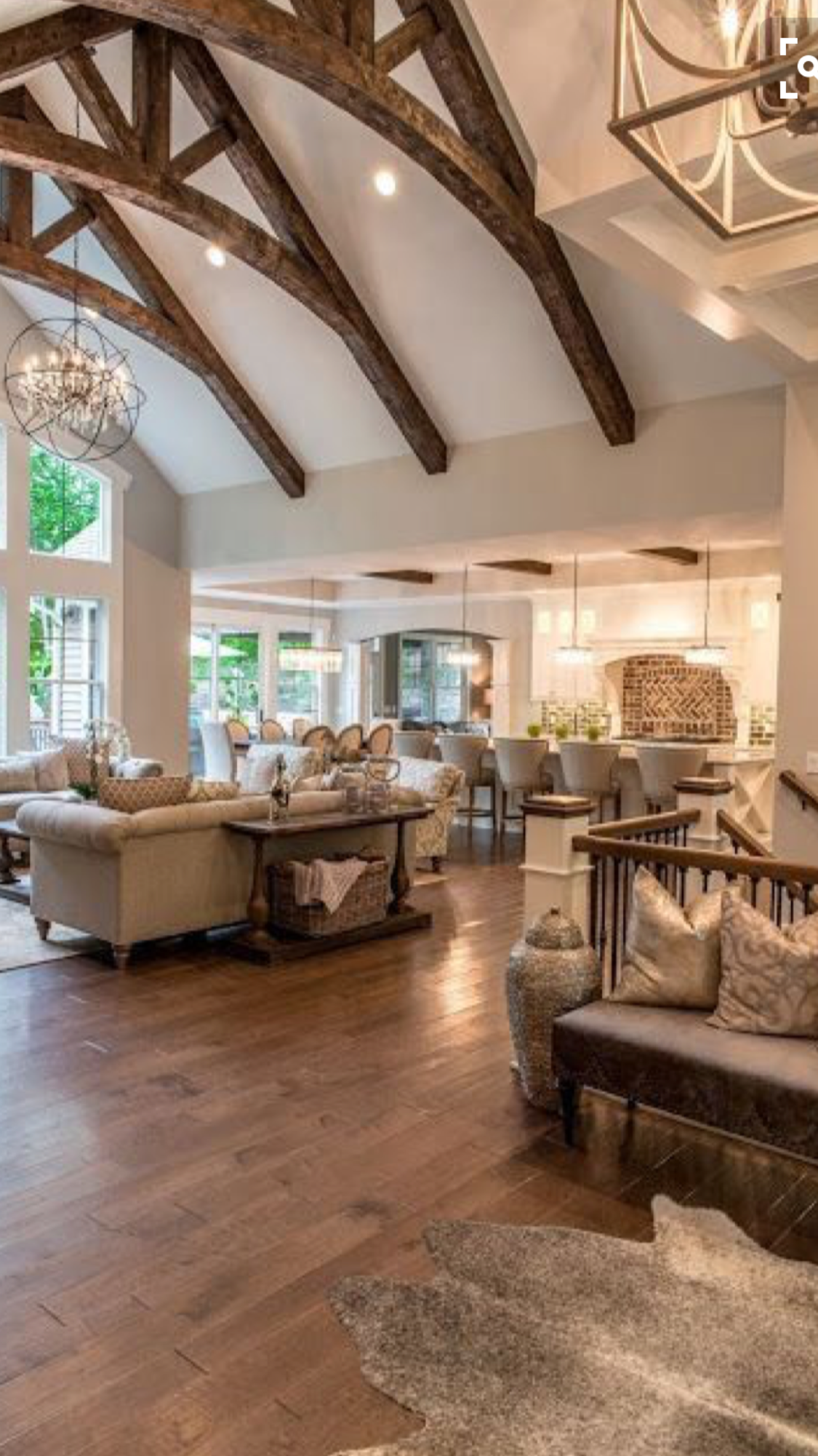 Love The Wooden BeamsReal Fit Housewife Welcome To My Home Our Little Slice Of Heaven Those Beams Restoration Hardware Wood Floors