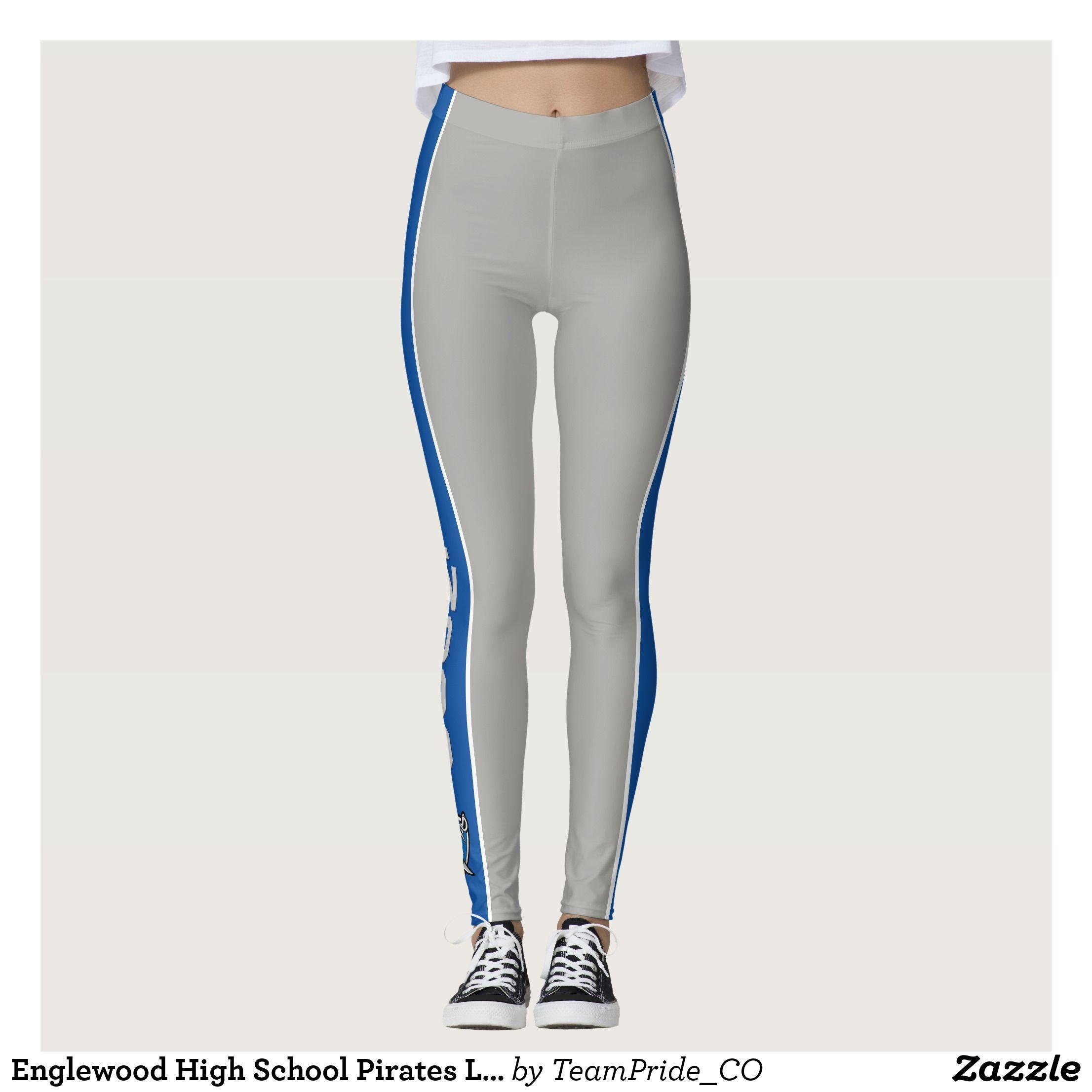 e6cc1242d5e336 Englewood High School Pirates Lines Leggings | Running tights ...
