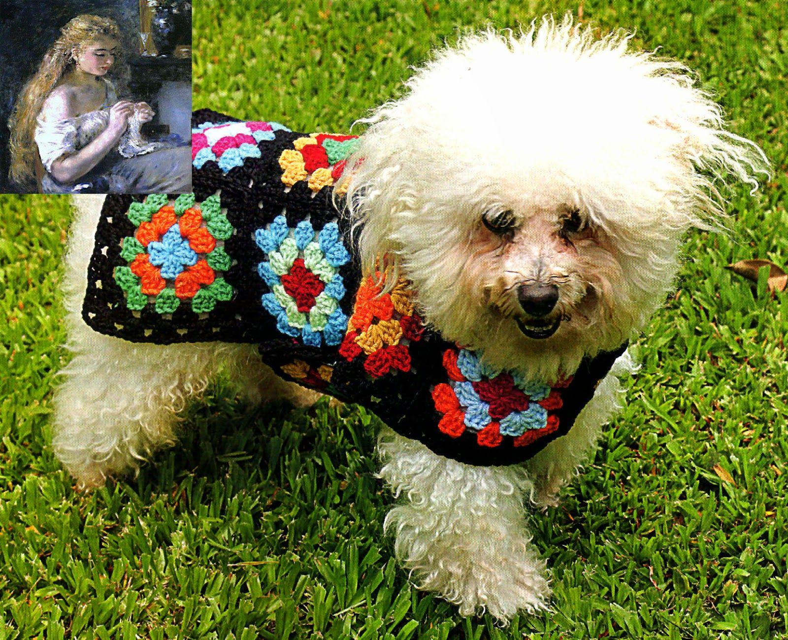 tejidos artesanales en crochet: capita multicolor para caniche toy ...