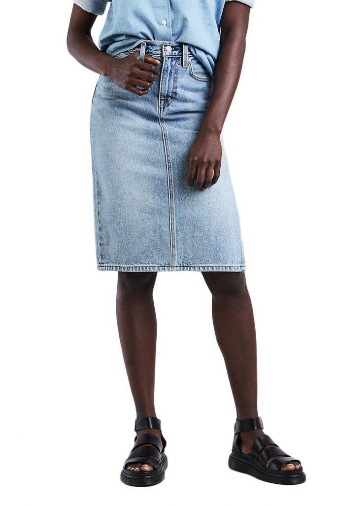 LEVI S side slit skirt blue waves - 52363-0001 9f69dcec8ee