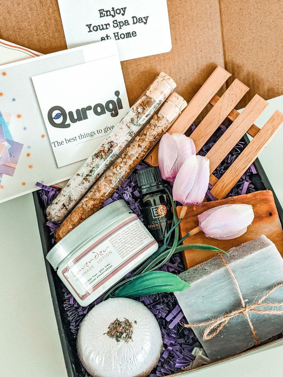 Birthday gift basket spa set housewarming gift gift box