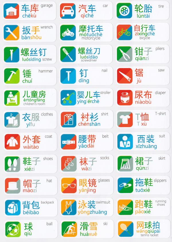 Chinese Language Stickers | chinese vocabulary | Pinterest ...