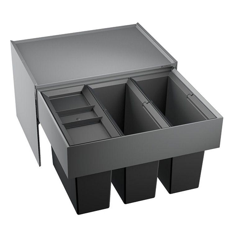 blanco select 60 3 m lltrennsystem dreht r kunststoff anthrazit 3x15 liter k che. Black Bedroom Furniture Sets. Home Design Ideas