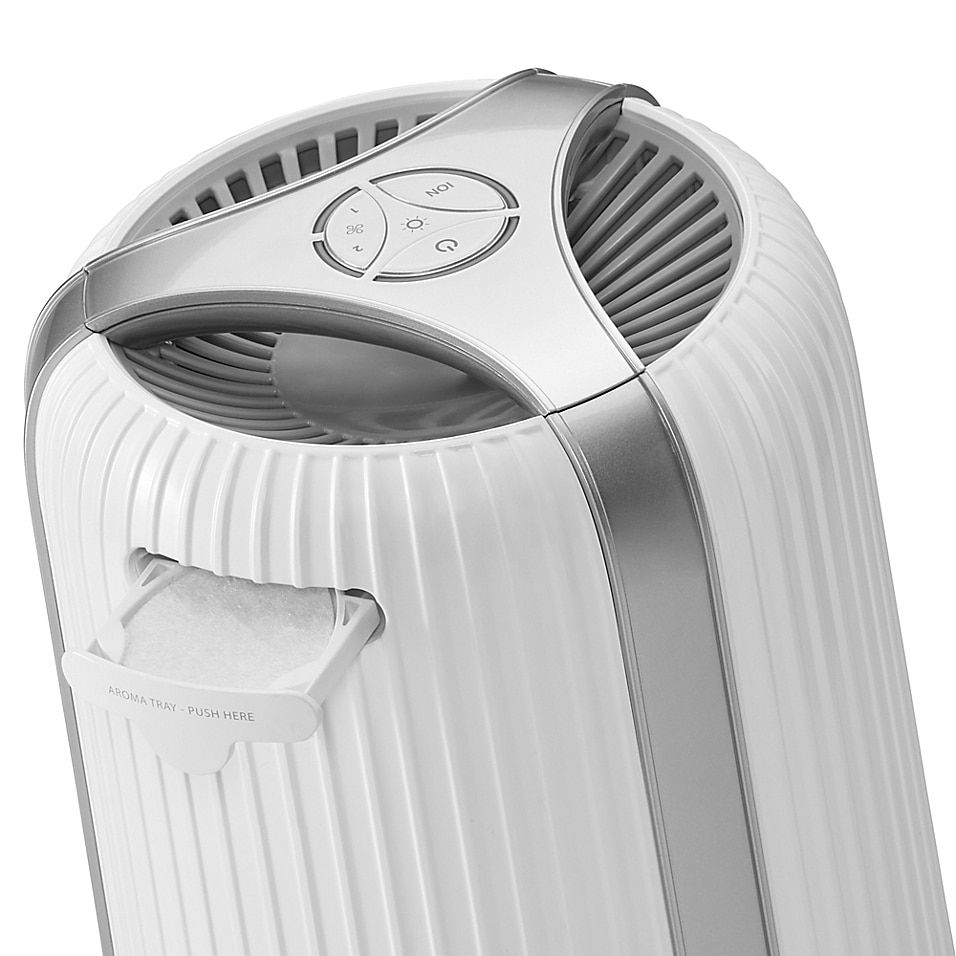 Homedics Totalclean 4-In-1 Air Purifier In White - The Homedics TotalClean 4-in-1 Air Purifier is ideal for creating cleaner air within any room in your home. The stylish air purifier with airflow control operation features a HEPA and carbon filer to  up to 99% of airborne allergens.