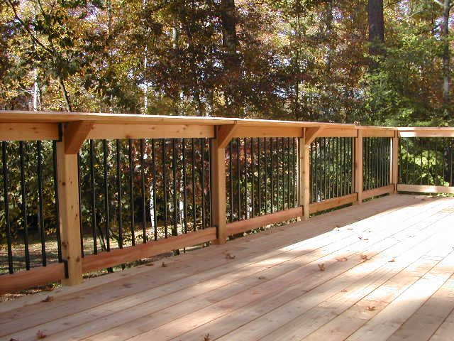 Deck Railing Design Ideas stainless cable railing deck railingraileasy turnbuckle wire railing for deck deck railing designrailing ideaswire Rail With Deckorator Pickets Complimented By Our Signature Shelf Rail Wood Deck Designswood
