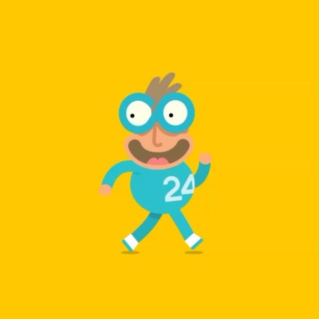 Cute Superhero Character Animation Walk Cycle Created With