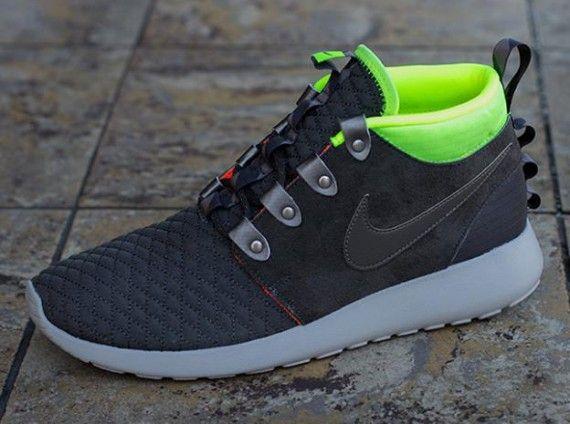 Nike Roshe Run Mid Winter Newsprint Smoke Volt KicksOnFire com