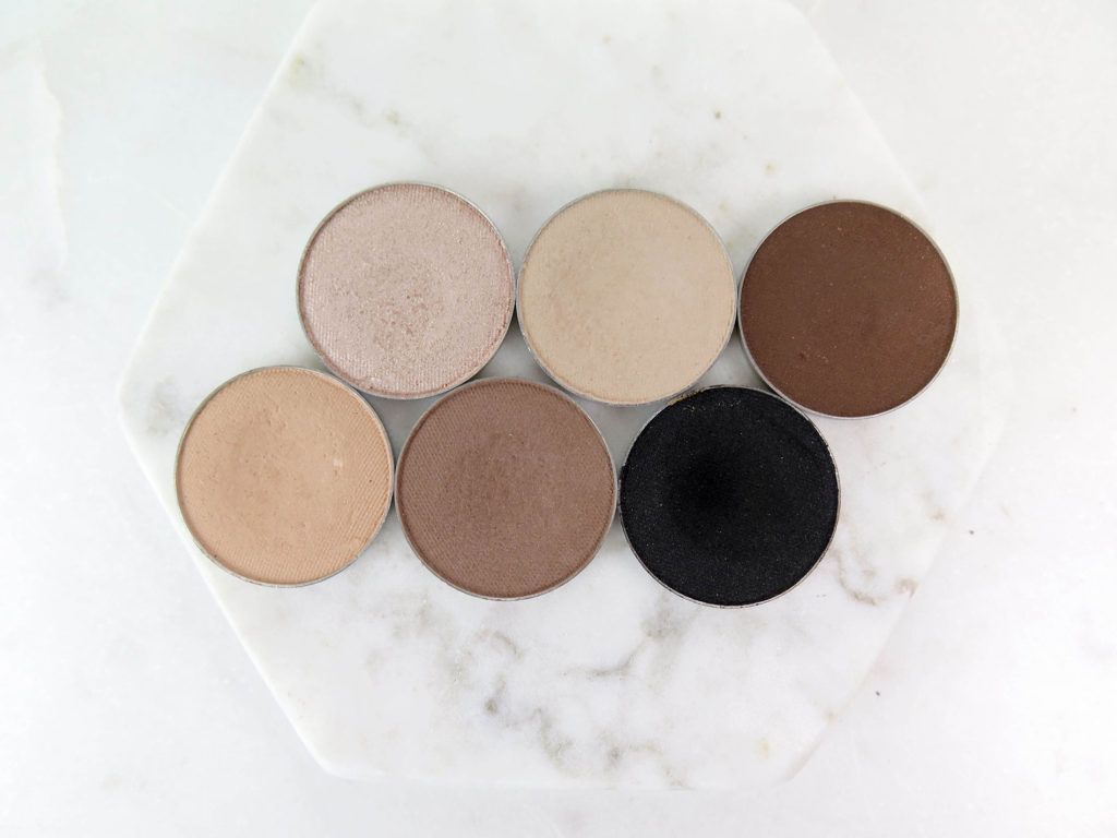 Top Row L R Makeup Geek Shimma Shimma Makeup Geek Vanilla Bean Makeup Geek Mocha Mocha Bottom Row Makeup Geek Swatches Makeup Geek Highlighter Eyeshadow