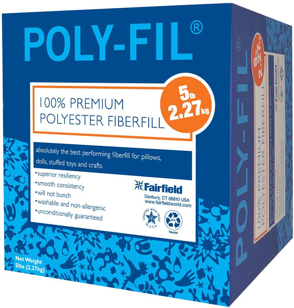 PolyFil® Premium Fiber Fill 5 pound Box Fun arts