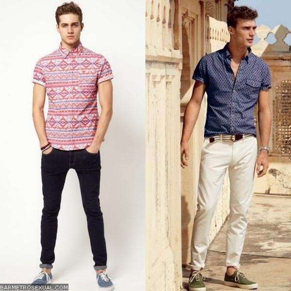 como usar camisa manga curta com calça  320aef7fe384d