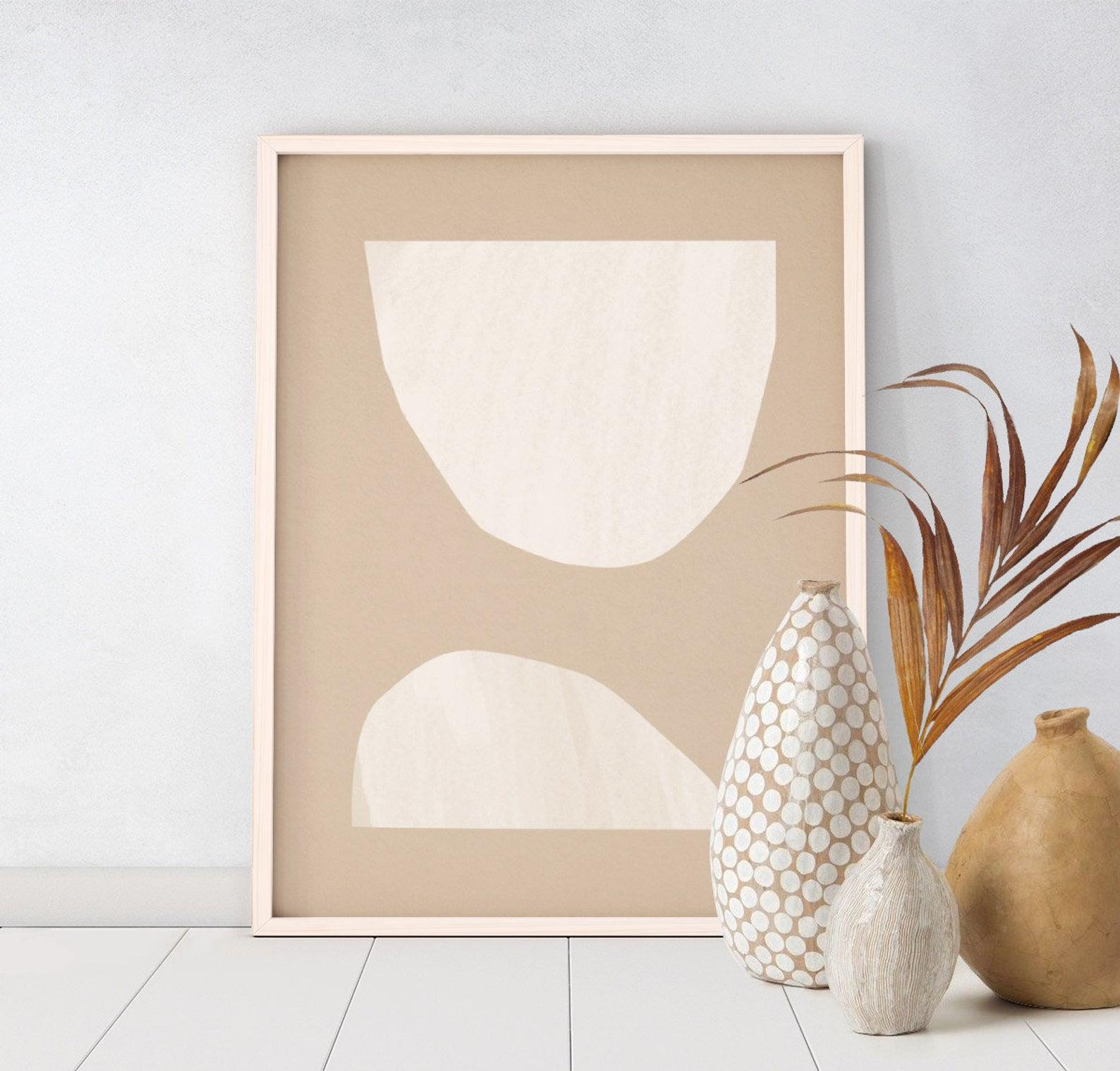 Minimalist Beige Art Downloadable Print Printable Modern Etsy In 2021 Beige Art Geometric Art Prints Downloadable Print